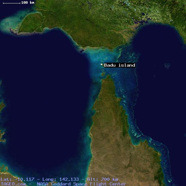 Moa And Badu Island Map