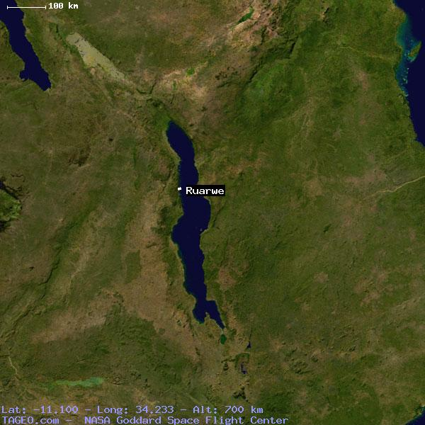 Geographic Coordinates of Malawi