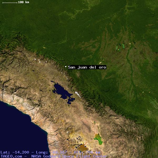 SAN JUAN DEL ORO PUNO PERU Geography Population Map Cities - Map us laatitude san juan