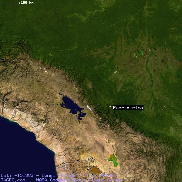 PUERTO RICO LA PAZ BOLIVIA Geography Population Map Cities - Geographical map of puerto rico
