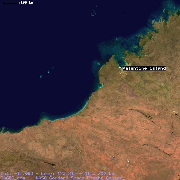 Valentine island western australia australia geography population map cities - Long island dulux valentine ...