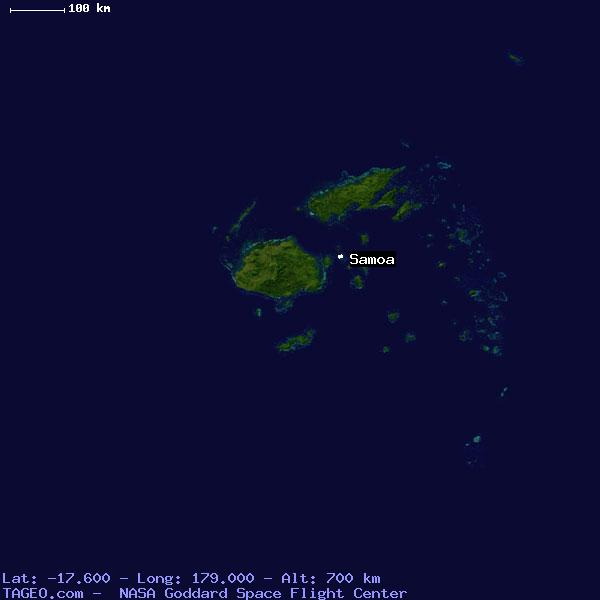 Samoa fiji general fiji geography population map cities satellite view of samoa gumiabroncs Choice Image