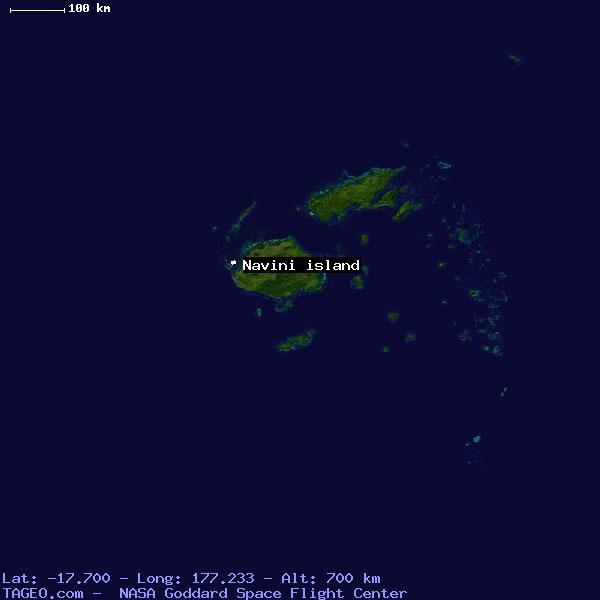 Navini Island Western Fiji Geography Population Map Cities