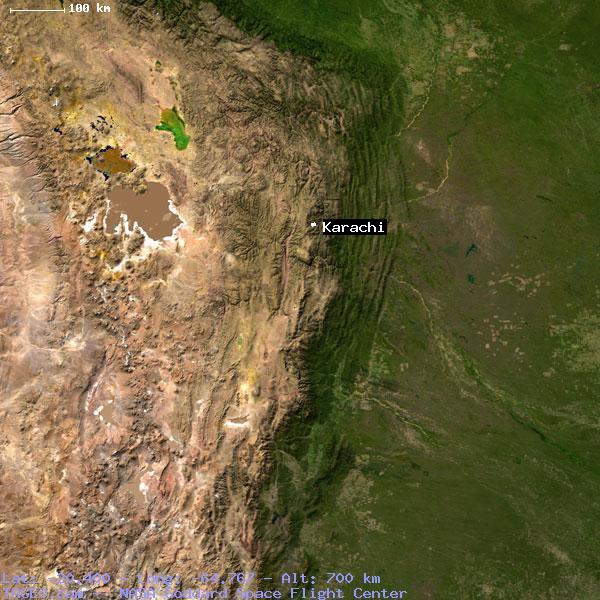 KARACHI CHUQUISACA BOLIVIA Geography Population Map cities