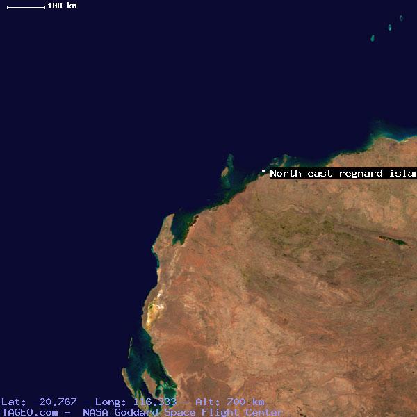 Map Of North East Australia.North East Regnard Island Western Australia Australia Geography