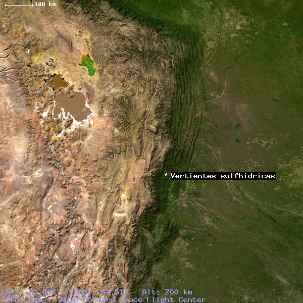 vertientes sulfhidricas tarija bolivia geography population map
