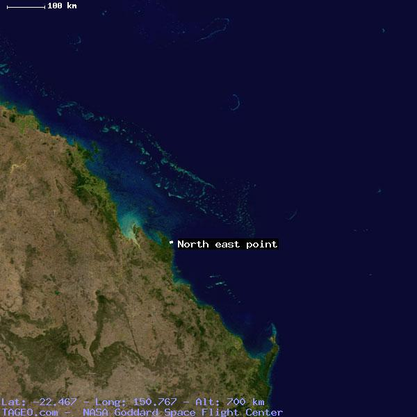 Map Of North East Australia.North East Point Queensland Australia Geography Population Map