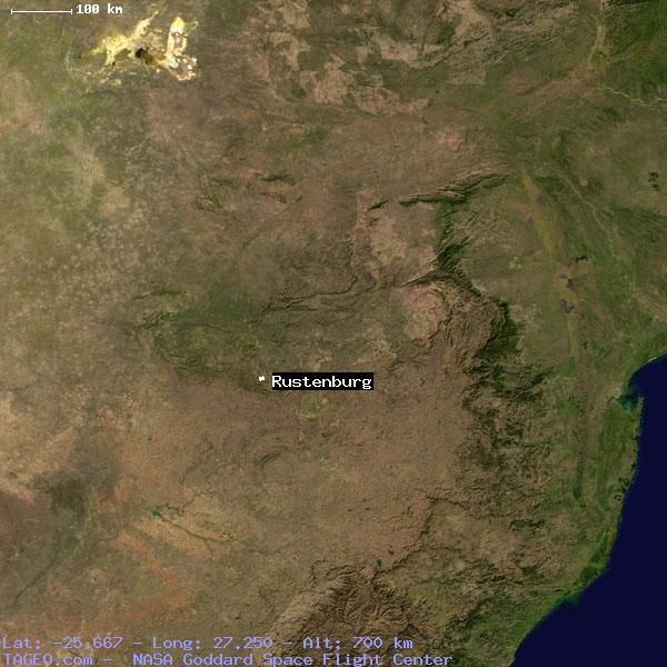 RUSTENBURG NORTHWEST SOUTH AFRICA Geography Population Map cities