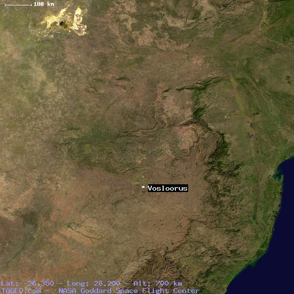 VOSLOORUS GAUTENG SOUTH AFRICA Geography Population Map Cities - Vosloorus map