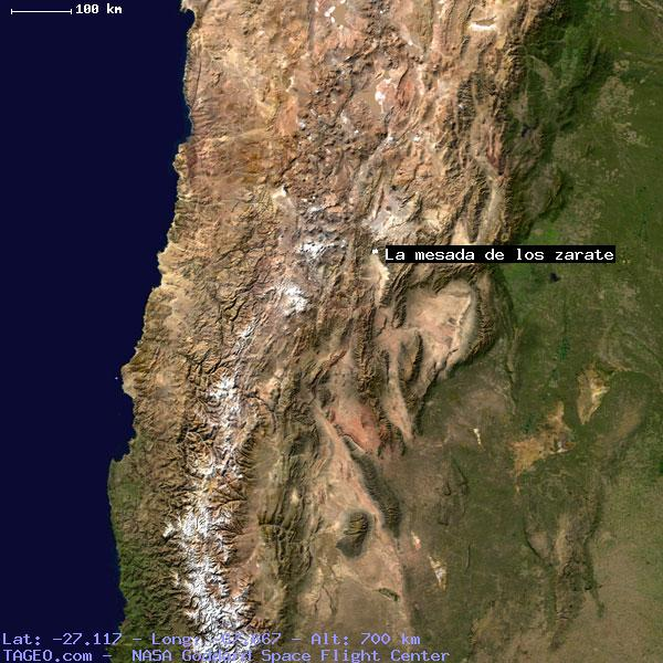 LA MESADA DE LOS ZARATE CATAMARCA ARGENTINA Geography Population - Zarate argentina map