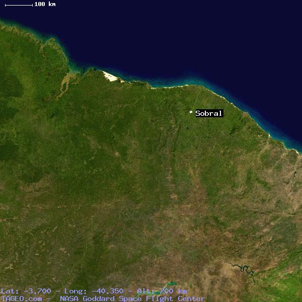 SOBRAL CEARA BRAZIL Geography Population Map Cities Coordinates - Sobral map