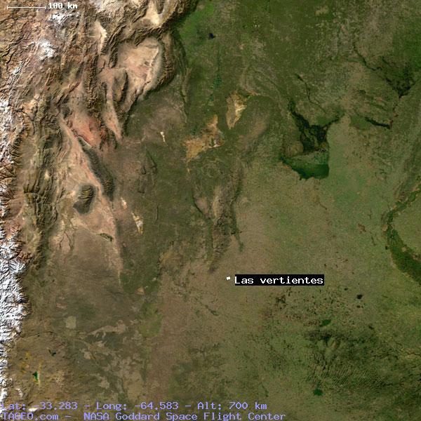 las vertientes cordoba argentina geography population map cities