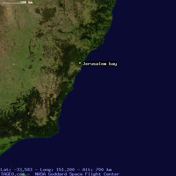 JERUSALEM BAY NEW SOUTH WALES AUSTRALIA Geography Population Map