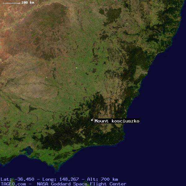 Map Of Australia Mt Kosciuszko.Mount Kosciuszko New South Wales Australia Geography Population Map