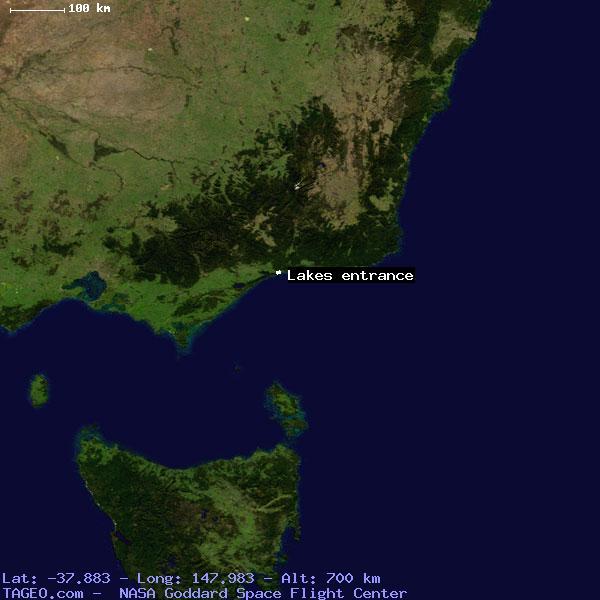 LAKES ENTRANCE VICTORIA AUSTRALIA Geography Potion Map ... on bairnsdale australia, healesville australia, lake macquarie australia, benalla australia, koroit australia, woodend australia, mt gambier australia, sorrento australia, kerang australia, bonang australia, arnhem land australia, ocean grove australia, ulladulla australia, squeaky beach australia, mt hotham australia, great otway national park australia, casterton australia, macedon ranges australia, cobram australia, wilsons promontory australia,