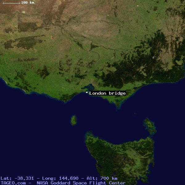 London bridge victoria australia geography population map cities satellite view of london bridge gumiabroncs Images