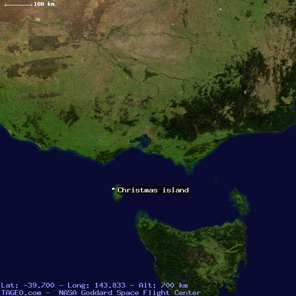 christmas island tasmania australia geography population map cities coordinates location tageocom