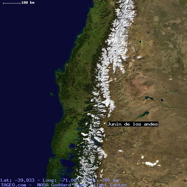 JUNIN DE LOS ANDES NEUQUEN ARGENTINA Geography Population Map - Junin argentina map