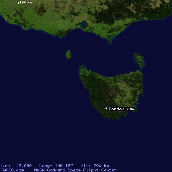 GORDON DAM TASM... Earth Google Maps Satellite