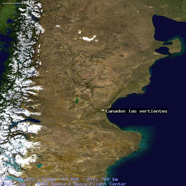 canadon las vertientes chubut argentina geography population map