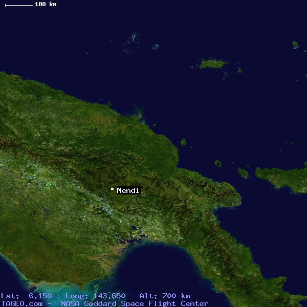 MENDI SOUTHERN HIGHLANDS PAPUA NEW GUINEA Geography Population Map