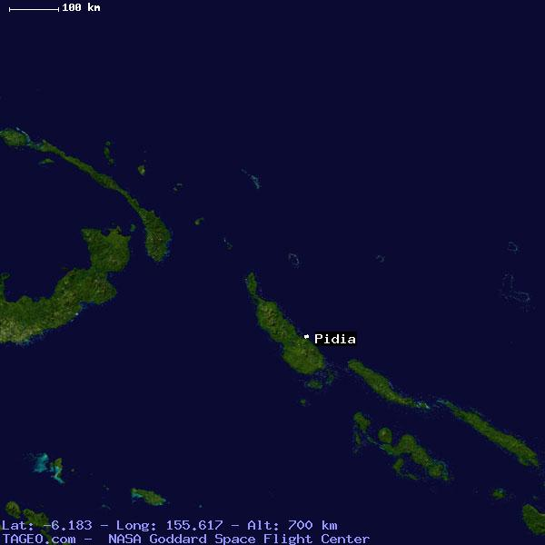 map pidia pidia bougainville papua guinea geography population map