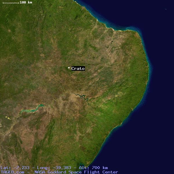 CRATO CEARA BRAZIL Geography Population Map Cities Coordinates - Crato map