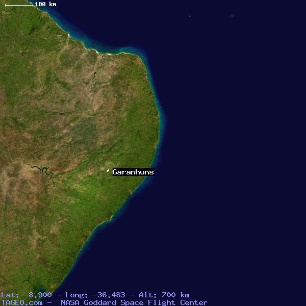 GARANHUNS PERNAMBUCO BRAZIL Geography Population Map Cities - Garanhuns map