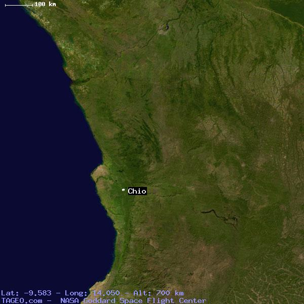 CHIO BENGO ANGOLA Geography Potion Map cities coordinates ... on