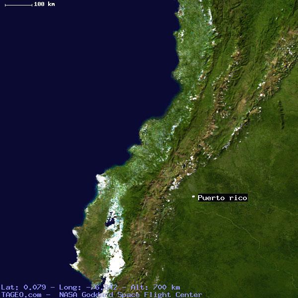 Puerto Rico Sucumbios Ecuador Geography Population Map Cities