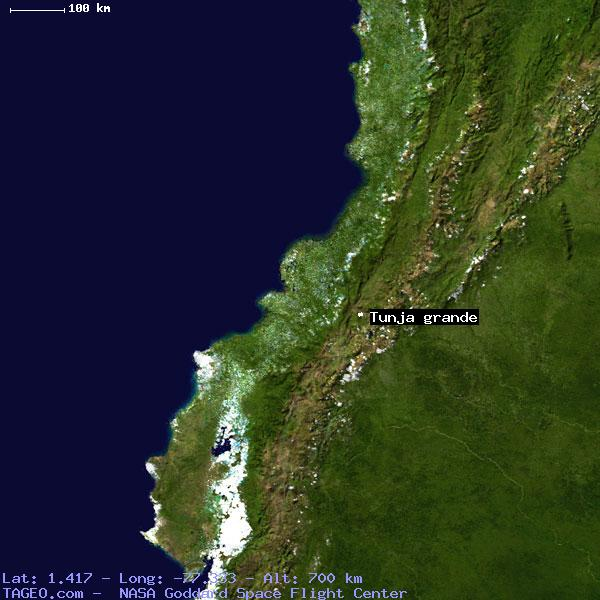 TUNJA GRANDE NARINO COLOMBIA Geography Population Map Cities - Tunja map