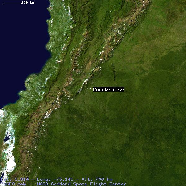 PUERTO RICO CAQUETA COLOMBIA Geography Population Map Cities - Geographical map of puerto rico