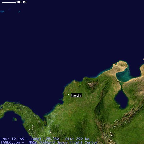 TUNJA BOLIVAR COLOMBIA Geography Population Map Cities Coordinates - Tunja map