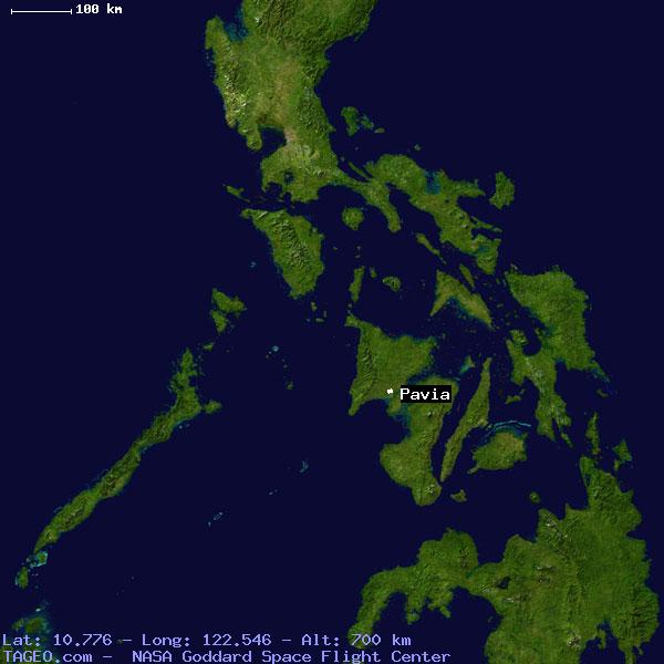PAVIA ILOILO PHILIPPINES Geography Population Map Cities - Google earth world map satellite