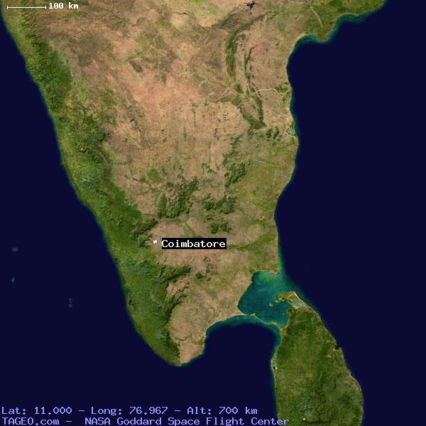 COIMBATORE TAMIL NADU INDIA Geography Population Map cities