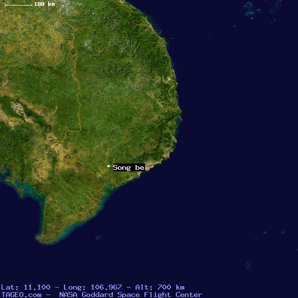 song be vietnam map Song Be Bin Duong Vietnam Geography Population Map Cities