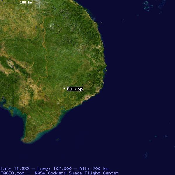 BU DOP (VM31) VIETNAM Geography Population Map cities coordinates