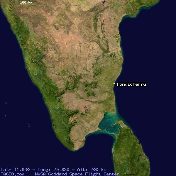 PONDICHERRY PONDICHERRY INDIA Geography Population Map cities ...