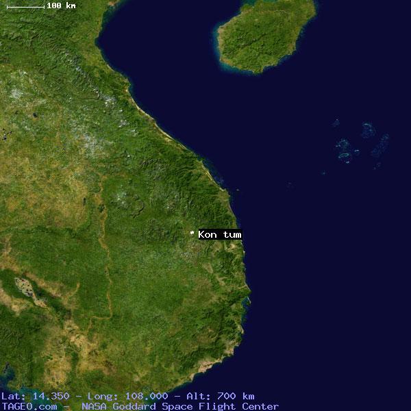 Kon Tum Kon Tum Vietnam Geography Population Map Cities Coordinates