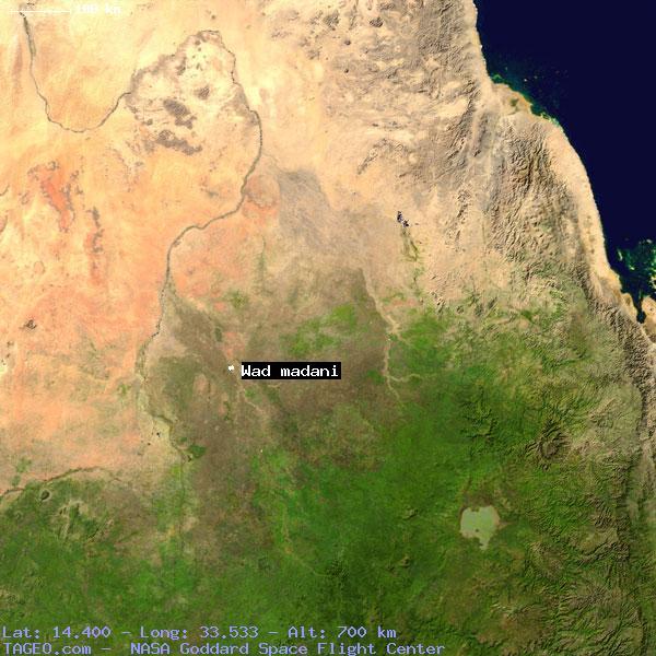 WAD MADANI SU SUDAN Geography Population Map Cities - Wad madani map