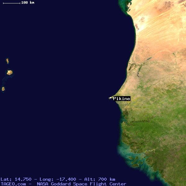 PIKINE DAKAR SENEGAL Geography Population Map Cities Coordinates - Pikine map