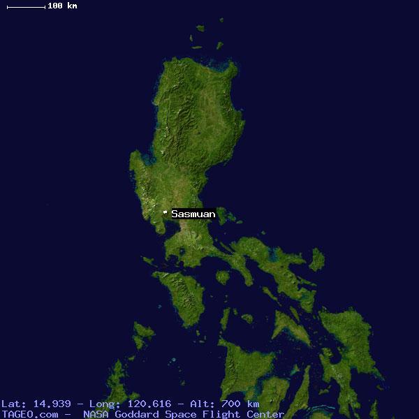 sasmuan pampanga philippines geography population map cities