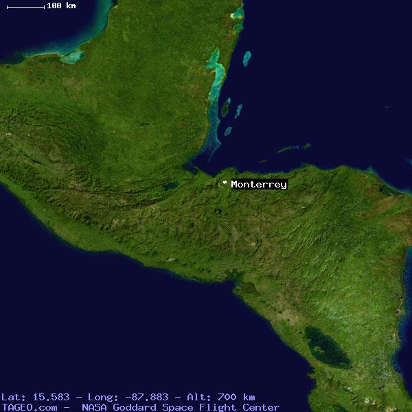 MONTERREY CORTES HONDURAS Geography Population Map cities ...