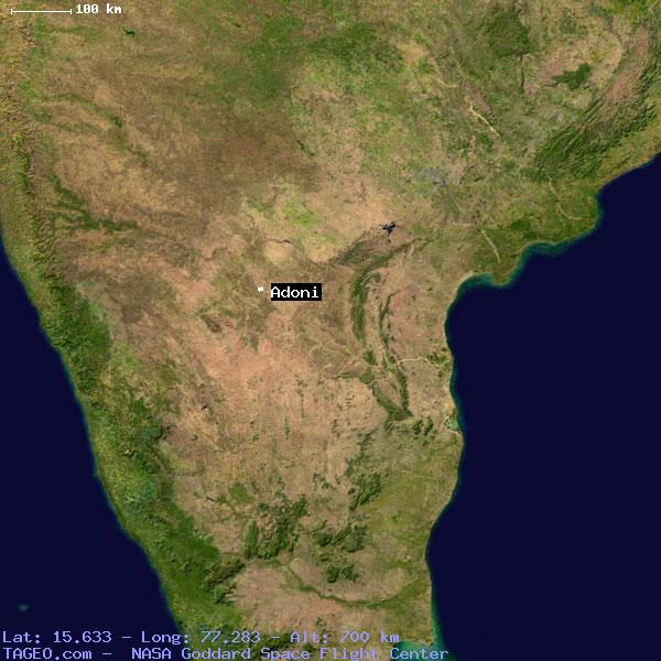 ADONI ANDHRA PRADESH INDIA Geography Population Map Cities - Adoni map