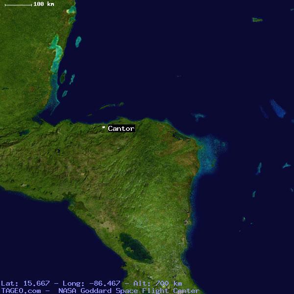 CANTOR ATLANTIDA HONDURAS Geography Potion Map cities ... on