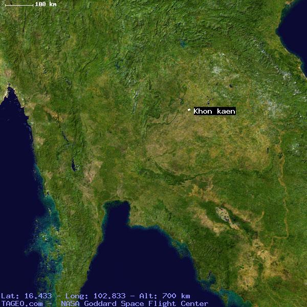 Khon Kaen Khon Kaen Thailand Geography Population Map Cities