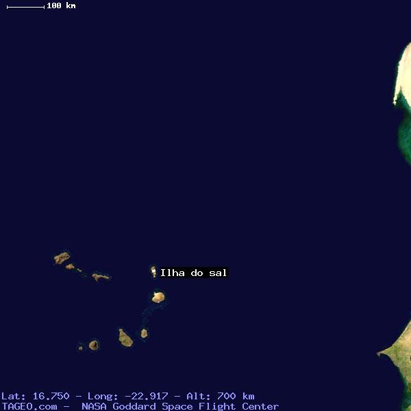 ILHA DO SAL CAPE VERDE GENERAL CAPE VERDE Geography Population - Cape verde coordinates