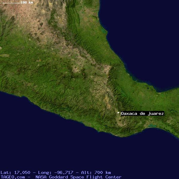 oaxaca de juarez mexico general mexico geography population map cities coordinates location tageocom