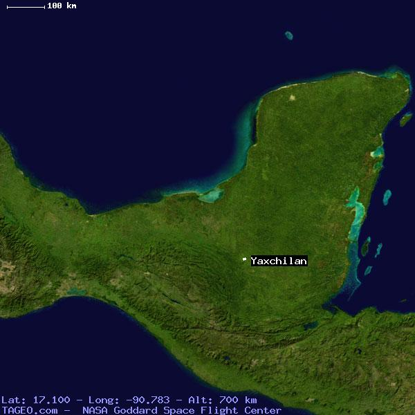 Yaxchilan Location