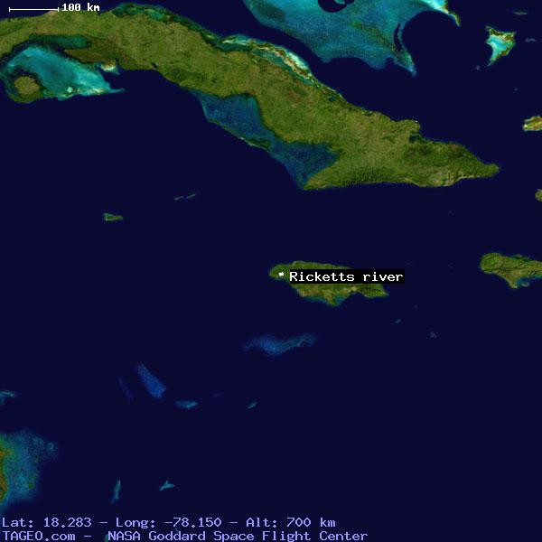 Ricketts river westmoreland jamaica geography population map cities satellite view of ricketts river gumiabroncs Images